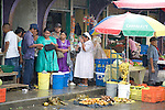 Mayan and Mestizo vendors sell produce at the market in Punta Gorda, Toledo District, Belize, Central America