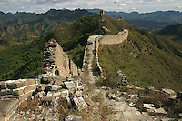 The Great Wall is a ruin in many places and hiking has been banned along some parts..20-OCT-03