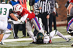 Southern Methodist Mustangs running back K.C. Nlemchi (25) in action during the game between the South Florida Bulls and the SMU Mustangs at the Gerald J. Ford Stadium in Fort Worth, Texas. SMU leads USF 13 to 0 at halftime.