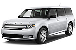 Front three quarter view of a 2018 Ford Flex SEL