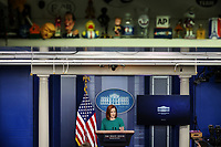 White House Press Secretary Jen Psaki talks to reporters during the daily press briefing in the Brady Press Briefing Room of the White House on Tuesday, April 6, 2021 in Washington, DC.<br /> Credit: Oliver Contreras / Pool via CNP /MediaPunch