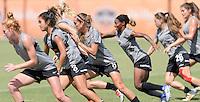 Houston, TX - Friday Oct. 07, 2016: Washington Spirit during training prior to the National Women's Soccer League (NWSL) Championship match between the Washington Spirit and the Western New York Flash at BBVA Compass Stadium.