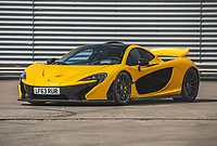 BNPS.co.uk (01202) 558833.<br /> Pic: SilverstoneAuctions/BNPS<br /> <br /> The very first McLaren P1 supercar to roll off the production line is tipped to sell for a whopping £1m. <br /> <br /> The groundbreaking motor was the first hybrid supercar, fitted with an electric battery that gave the 200mph motor a range of 19 miles.<br /> <br /> Just 375 McLaren P1 production cars were made between 2013 to 2015, with this one being the very first.