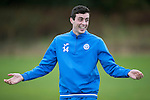 St Johnstone Training….14.10.16<br />Joe Shaughnessy pictured in training this morning atr McDiarmid Park ahead of tomorrows game against Kilmarnock<br />Picture by Graeme Hart.<br />Copyright Perthshire Picture Agency<br />Tel: 01738 623350  Mobile: 07990 594431
