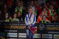 SPEEDSKATING: HEERENVEEN: 11-01-2020, IJsstadion Thialf, European Championship distances, Podium 3000m Ladies, Natalia Voronina (RUS), ©foto Martin de Jong