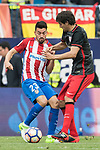 Nicolas Gaitan (L) of Atletico de Madrid fights for the ball with Mikel San Jose Dominguez (R) of Athletic Club during their La Liga match between Atletico de Madrid vs Athletic de Bilbao at the Estadio Vicente Calderon on 21 May 2017 in Madrid, Spain. Photo by Diego Gonzalez Souto / Power Sport Images