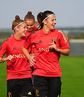 20200911 - TUBIZE , Belgium : Laure De Neve picturedduring a training session of the Belgian Women's National Team, Red Flames , on the 11th of September 2020 in Tubize. PHOTO SEVIL OKTEM | SPORTPIX.BE