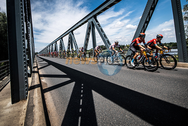 The peloton during Stage 7 of the 2021 Tour de France, running 249.1km from Vierzon to Le Creusot, France. 2nd July 2021.  <br /> Picture: A.S.O./Charly Lopez | Cyclefile<br /> <br /> All photos usage must carry mandatory copyright credit (© Cyclefile | A.S.O./Charly Lopez)