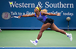 Serena Williams (USA) advances to the final after defeating Caroline Wozniacki (DEN) by 26 62 64 at the Western & Southern Open in Mason, OH on August 16, 2014.