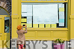 A resident of the Skellig Star Direct Provision Centre in Cahersiveen on Saturday after the announcement that there were further cases of Covid-19 in the Centre takes a picture of the front window of the hotel.