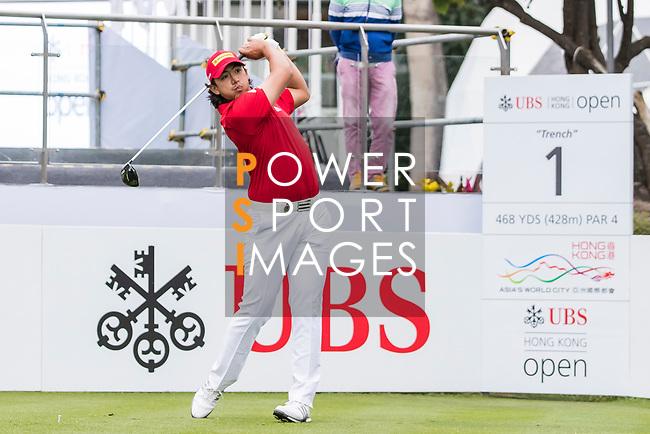 Gavin Green of Malaysia tees off during the day four of UBS Hong Kong Open 2017 at the Hong Kong Golf Club on 26 November 2017, in Hong Kong, Hong Kong. Photo by Yu Chun Christopher Wong / Power Sport Images