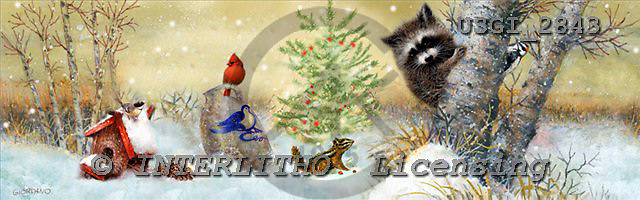 GIORDANO, CHRISTMAS ANIMALS, WEIHNACHTEN TIERE, NAVIDAD ANIMALES, paintings+++++,USGI2843,#XA#