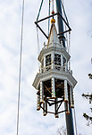 NORFOLK, CT-122320JS10 Workers from A Quick Pick Crane & Rigging Service remove the steeple of the United Church of Christ in Norfolk on Wednesday. The steeple was taken down as part of a larger renovation project. <br /> Jim Shannon Republican-American