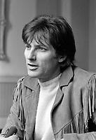 Le chanteur français Hugues Aufray,  Entre le 12 et le 18 mai 1969<br /> <br /> Photo : Photo Moderne - © Agence Quebec Presse