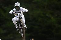 29th August 2021; Commezzadura, Trentino, Italy; 2021 Mountain Bike Cycling World Championships, Val di Sole; Downhill; Downhill final men, Troy Brosnan (AUS)