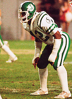 Eddie Lowe Saskatchewan Roughriders 1984. Photo F. Scott Grant