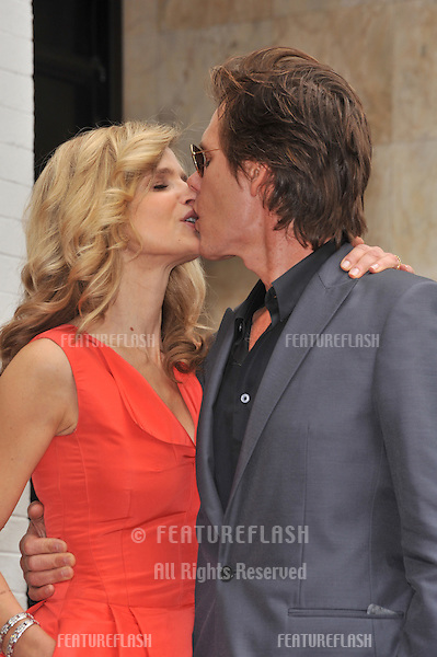"""Kyra Sedgwick, star of """"The Closer,"""" & husband Kevin Bacon on Hollywood Boulevard where she was honored with the 2,384th star on the Hollywood Walk of Fame..June 8, 2009  Los Angeles, CA.Picture: Paul Smith / Featureflash"""