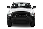 Car photography straight front view of a 2021 Ram 1500-Classic Warlock 4 Door Pick-up Front View