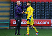 SWANSEA, WALES - MARCH 25: Swansea City coach Cameron Toshack shakes hands with Gregor Zabret of Swansea City after the final whistle of the Premier League International Cup Semi Final match between Swansea City and Porto at The Liberty Stadium on March 25, 2017 in Swansea, Wales. (Photo by Athena Pictures)Athena Pictures)