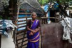 Govind Amma now leaves at Akarapett with her family. She had lost 7 grand children in 2004 Tsunami. Nagapattinam, Tamil Nadu, India.