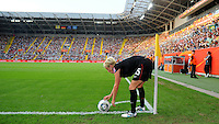 Megan Rapinoe during the FIFA Women's World Cup at the FIFA Stadium in Dresden, Germany on July 10th, 2011.