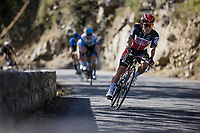 Caleb Ewan (AUS/Lotto Soudal) descending Col de Turini<br /> <br /> 107th Tour de France 2020 (2.UWT)<br /> (the 'postponed edition' held in september)<br /> Stage 2 from Nice to Nice 186km<br /> ©kramon