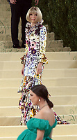 September 13, 2021.Anna Wintour, Bee Shaffer attend The 2021 Met Gala Celebrating In America: A Lexicon Of Fashion at<br /> Metropolitan Museum of Art  in New York September 13, 2021 Credit:RW/MediaPunch
