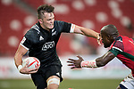 Frank Wanyama of Kenya (right) tries to stop Lewis Ormond of New Zealand, who runs with the ball during the match New Zealand vs Kenya, Day 2 of the HSBC Singapore Rugby Sevens as part of the World Rugby HSBC World Rugby Sevens Series 2016-17 at the National Stadium on 16 April 2017 in Singapore. Photo by Victor Fraile / Power Sport Images