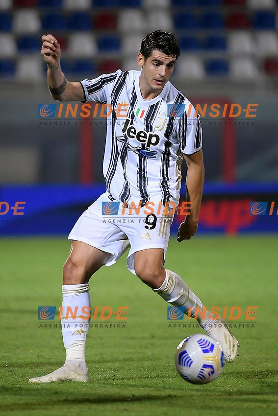 Alvaro Morata of Juventus FC in action during the Serie A football match between FC Crotone and Juventus FC at stadio Ezio Scida in Crotone (Italy), October 17th, 2020. Photo Federico Tardito / Insidefoto