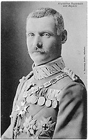 BNPS.co.uk (01202 558833)<br /> Pic: Pen&Sword/BNPS<br /> <br /> Pictured: Rupprecht, Crown Prince of Bavaria (1869-1955), commander of the German Sixth Army.<br /> <br /> Previously unseen accounts of the First World War Christmas Day truce from the German side have come to light over 100 years on.<br /> <br /> British historian Anthony Richards has pored over hundreds of German diaries to shed new light on the temporary ceasefire in 1914.<br /> <br /> The fascinating accounts include one by a soldier who described the truce as a 'miracle' and called enemy troops his 'brothers'.