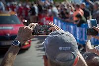 race start! <br /> <br /> 82nd La Flèche Wallonne 2018<br /> 1 Day Race: Seraing - Huy (198,5km)