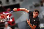 Bulgarian tennis player Grigor Dimitrov during Madrid Open Tennis 2014 match. May 05, 2014. (ALTERPHOTOS/Victor Blanco)