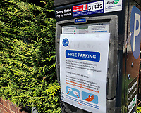 High Wycombe, England. 19 May 2020<br /> .<br /> Parking for shopping in High Wycombe is free as machines are closed for payment during the current UK Covid-19 lockdown with new guidelines issued recently by the government at The Rye, Park, Bucks, England on 19 May 2020. Photo by Andy Rowland.