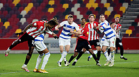 Ivan Toney scores Brentford's second goal during Brentford vs Queens Park Rangers, Sky Bet EFL Championship Football at the Brentford Community Stadium on 27th November 2020