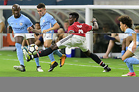 Houston, TX - Thursday July 20, 2017: Eliaquim Mangala, Phil Foden and Paul Pogba during a match between Manchester United and Manchester City in the 2017 International Champions Cup at NRG Stadium.