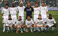 LA Galaxy starting XI . The Colorado Rapids defeated the LA Galaxy 1-0 during the preliminary rounds of the 2008 US Open Cup at Home Depot Center stadium in Carson, Calif., on Tuesday, May 27, 2008.