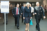 "© Joel Goodman - 07973 332324 . 22/05/2012 .  Manchester , UK . Home Secretary THERESA MAY and ACPO President SIR HUGH ORDE leave the conference . The Association of Chief Police Officers ( ACPO ) "" Leading Change in Policing Conference "" , at the Manchester Central Convention Centre . Photo credit: Joel Goodman"