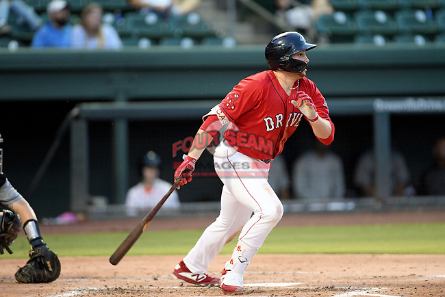Triston Casas (38)  of the Greenville Drive in a game against the Asheville Tourists on Friday, August 23, 2019, at Fluor Field at the West End in Greenville, South Carolina. Greenville won, 11-1. (Tom Priddy/Four Seam Images)