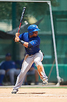 GCL Blue Jays center fielder Antony Fuentes (57) at bat during a game against the GCL Braves on August 5, 2016 at ESPN Wide World of Sports in Orlando, Florida.  GCL Braves defeated the GCL Blue Jays 9-0.  (Mike Janes/Four Seam Images)