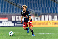 FOXBOROUGH, MA - SEPTEMBER 5: Noel Buck #61 of New Englans Revolution II controls the ball during a game between Tormenta FC and New England Revolution II at Gillette Stadium on September 5, 2021 in Foxborough, Massachusetts.