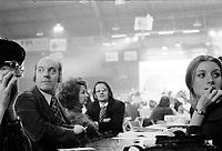 Congres du PQ, 23 au 26 Fevrier 1973<br /> en presence de Rene Levesque, Yvan Marois, Claude Morin<br /> <br /> <br /> PHOTO : Agence Quebec Presse - Alain Renaud