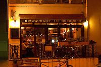 The restaurant Le Bilbouquet in Tournon. Tournon-sur-Rhone, Ardeche Ardèche, France, Europe