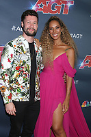 """LOS ANGELES - SEP 18:  Calum Scott, Leona Lewis at the """"America's Got Talent"""" Season 14 Finale Red Carpet at the Dolby Theater on September 18, 2019 in Los Angeles, CA"""