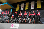 Team Arkea-Samsic on stage at the Team Presentation before the 78th edition of Paris-Nice 2020, Plaisir, France. 8th March 2020.<br /> Picture: ASO/Fabien Boukla | Cyclefile<br /> All photos usage must carry mandatory copyright credit (© Cyclefile | ASO/Fabien Boukla)