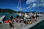 Start of our sailing week. Praslin marina
