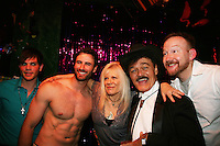 Dan Gershaw - Matthew Pender (former Detroit Tiger pitcher) & Randy Jones (original cowboy Village People) & Will Clark and all in When Joey Married Bobby at the Roy Arias Theater Center as they join One Life To Live's Ilene Kristen on April 28, 2010 at Will Clark's P*rno Bingo at Pieces, New York City, New York to benefit the American Foundation for Suicide Prevention - an event presented by We Love Soaps (Damon Jacobs and Roger Newcomb). (Photos by Sue Coflin/Max Photos)