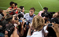 Abby Wambach, media.  The USWNT defeated Brazil, 4-1, at an international friendly at the Florida Citrus Bowl in Orlando, FL.