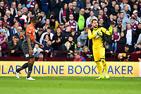 Kristoffer Nordfeldt of Swansea City in action during the Sky Bet Championship match between Aston Villa and Swansea City at Villa Park in Birmingham, England, UK.  Saturday 20 October  2018
