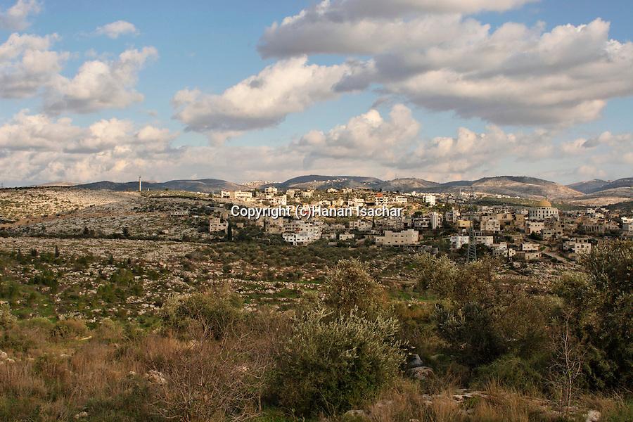 Beth El Mountains, Palestinian village Beit Sira as seen from Macabim