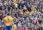 Clare fans react during their All-Ireland semi-final against Galway at Croke Park. Photograph by John Kelly.